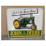 "Porcelain John Deere Sign/Picture- ""Look…Ahead"""