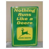 """Metal John Deere Sign/Picture- """"Nothing…Deere"""""""