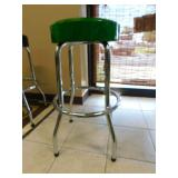 JD Bar Stool - Green Seat - NICE