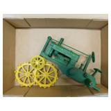 "Cast Iron JD ""OP"" Tractor - Rear Wheels Detached"