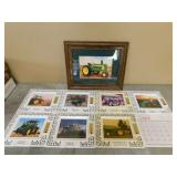 Framed Picture & 7 Taylor & Messick Thermometers