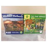 2- JD Tractor Puzzles - 550-1000 pieces