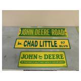 3- JD Signs - JD Rd, Chad Little Blvd, John Deere