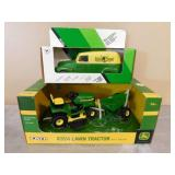 1:16 JD X324 Lawn Tractor & 1:25 JD Delivery Truck