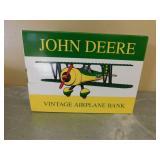 John Deere Vintage Airplane Bank in Box