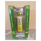 Gearbox 1950 JD Gas Pump Coin Bank - In Box