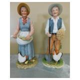 Porcelain Farming Couple