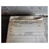 Poultry Supply Co. Receipt Book