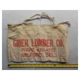 Grier Lumber Co. nail bag