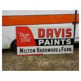Davis paint Sign- Milton HARDWEAR   46IN BY 94IN