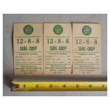 3 Sure-Crop fertilizer tickets