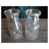 Two – ½ pint Milk Jars