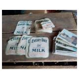 12 Milk Labels and 10 Postcards
