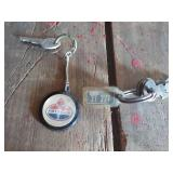 Two Keys with Keychains