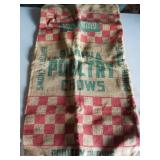 Purina Poultry Chow burlap bag