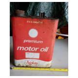Agway Premium Motor Oil Can