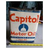 Capitol Motor Oil Can