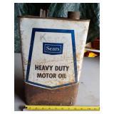 Sears Heavy Duty Motor Oil Can