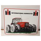 International Harvester metal sign 16 x 12