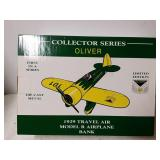 Oliver 1929 travel air model are airplane bank
