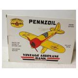 Pennzoil vintage airplane bank