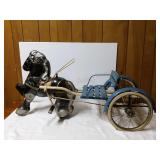 "Antique horse and buggy. 41 1/2"" long. 16 1/2"""