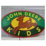 John Deere kids cardboard double sided sign 30 x