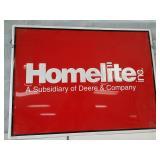 Metal Homelite sign.24 x 18