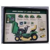 John Deere  LX Lawn tractors  card board sign in