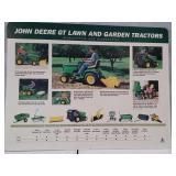 John Deere GT lawn and garden tractor card board