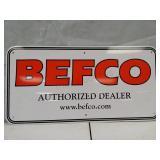 Befco metal sign. 24 x 12