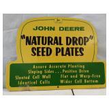 """John Deere  """" natural drop"""" see plates Masonite"""