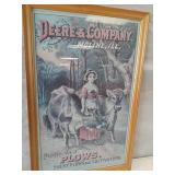 Deere & Company framed sign. 17 1/2 x 27