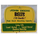 John Deere belts Masonite double sided sign. 15 x