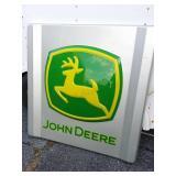 "John Deere plastic sign. 48 1/2"" x 49"""