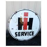 International service metal double sided sign 42""