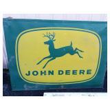 John Deere metal sign. 48x42