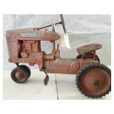 Farmall M pedal tractor. Has hitch, no gear