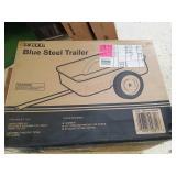 Blue steel trailer. New in box