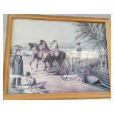John Deere framed picture