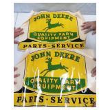 John Deere sticker decal. (2)24 x 16. (2) 18 x