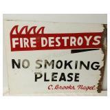 """Fire Destroys No Smoking Please"" C. Brooks Nagel"