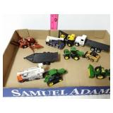11 piece tractors and truck toys