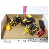 3 JCB pieces. Tractor, loader and forklift with
