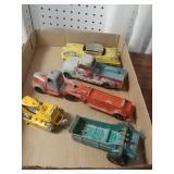 4 piece small toy trucks