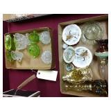 11 piece glassware, 3 lanterns and 5 mini plates