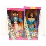 (2) Native American Barbie