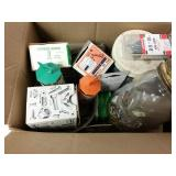 Box of Nails, screws and misc. hardware