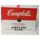 Campbells Soup limited edition collector airplane