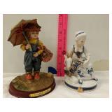 (2) piece figurines
